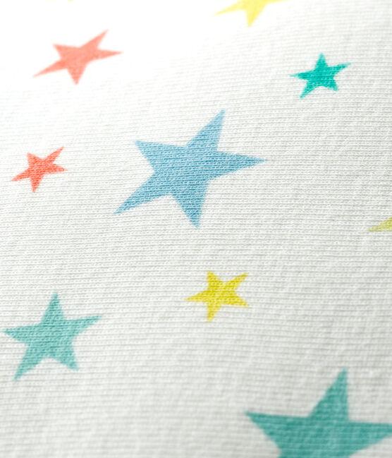 Ribbed cushion Marshmallow white / Multico white