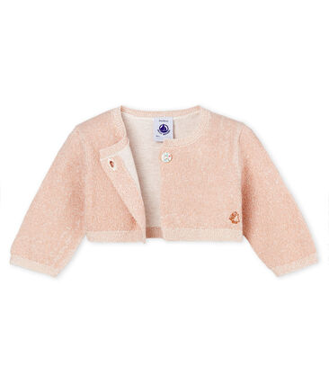 Baby girls' shiny bolero
