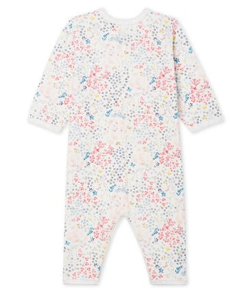 Baby Girls' Footless Padded Sleepsuit Marshmallow white / Minois pink