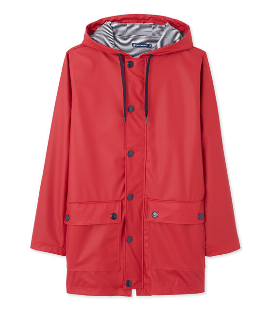 iconic mixed raincoat Mars red