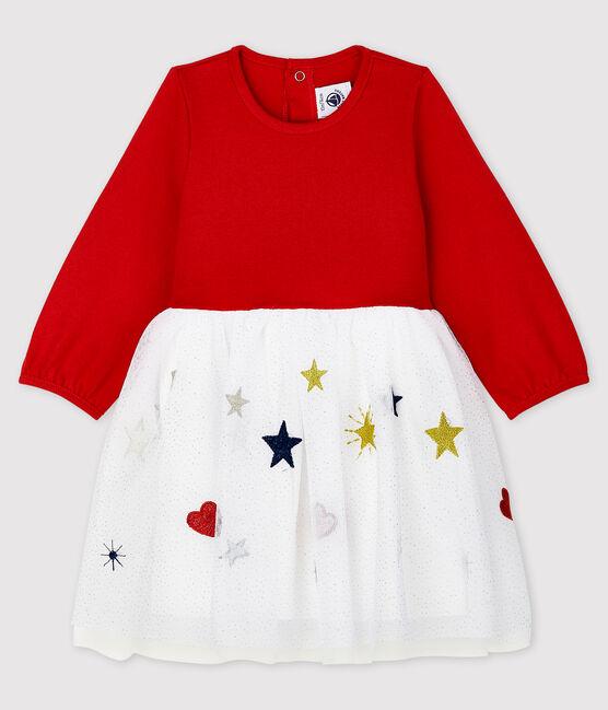 Petit Bateau Baby Girls Long-Sleeved Dress