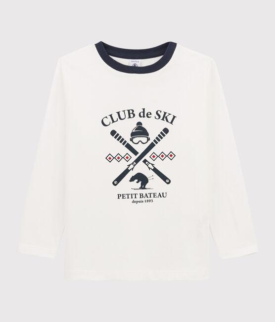 Boys Silkscreen Print T-shirt Marshmallow white