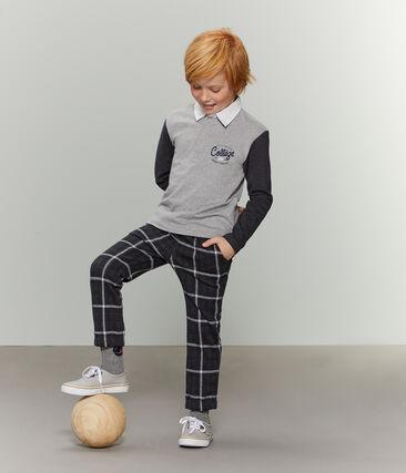 Boys' Rugby Polo Shirt Subway grey / City black