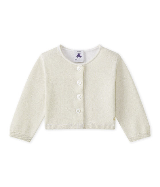 Baby Girls' Shiny Bolero Ecume white / Em Dore brown