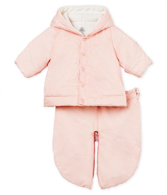 Unisex baby 3-in-1 snowsuit Rosako pink / Marshmallow white