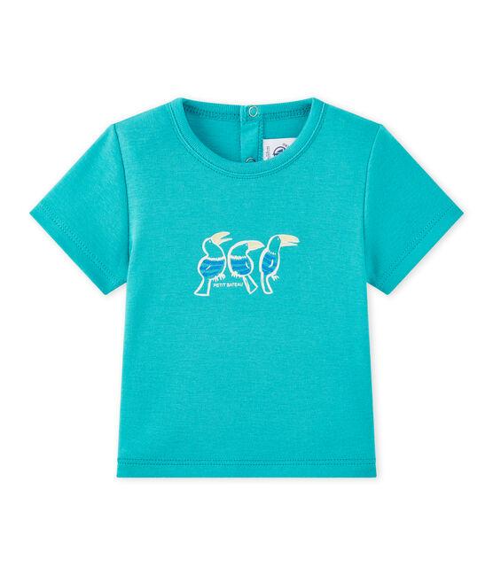 Baby boy's short-sleeved T-shirt Verger green