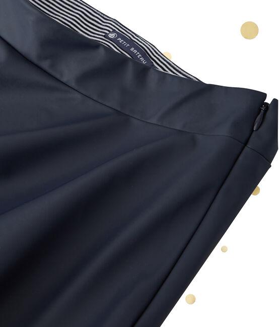Women's long skirt. Petit bateau x Marie-Agnès Gillot Smoking blue