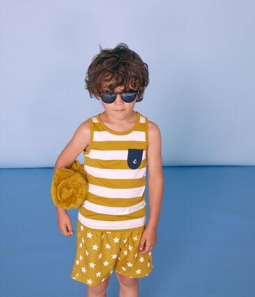 Boys' Beach Shorts Bamboo yellow / Marshmallow white