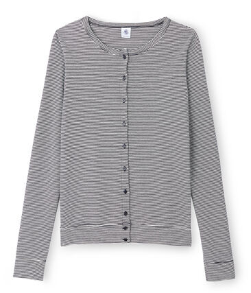 Women's Iconic Cardigan Smoking blue / Lait white
