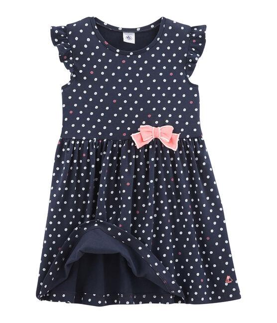 Girls' Dress Smoking blue / Multico white