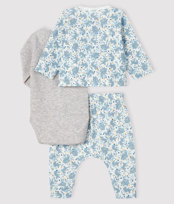 Baby Boys' Ribbed Three-Piece Marshmallow white / Multico white