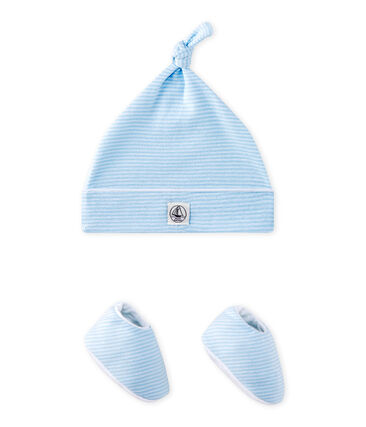 Newborn hat + booties set