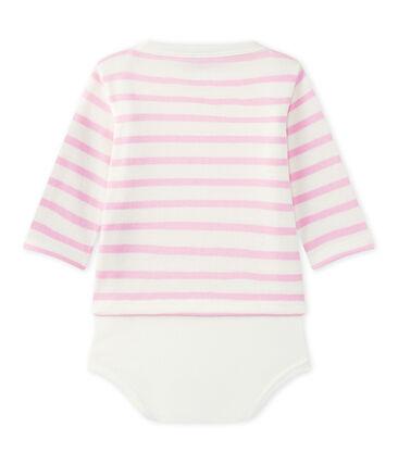 Baby's long-sleeved sailor-style bodysuit