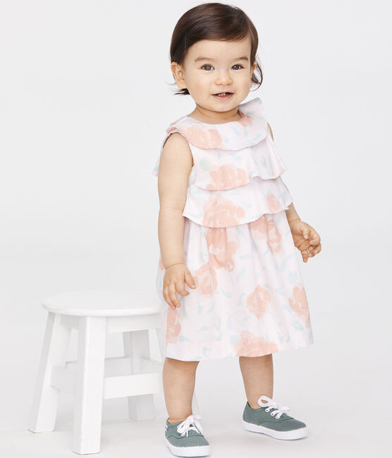 Baby Girls' Printed Satin Dress Vienne pink / Multico white