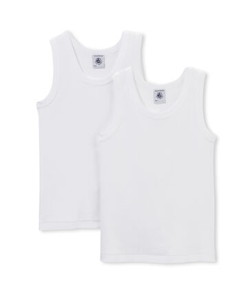 Pack of 2 boy's plain vest tops