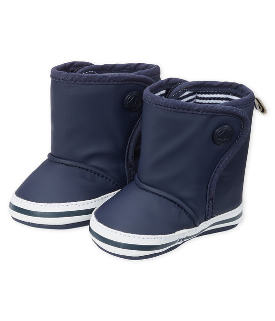 Babies' Rain Bootees Smoking blue