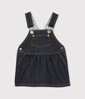 Baby girl's denim dungaree-dress JEAN