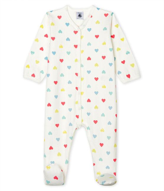 Baby Girls' Tube Knit Sleepsuit Marshmallow white / Multico white