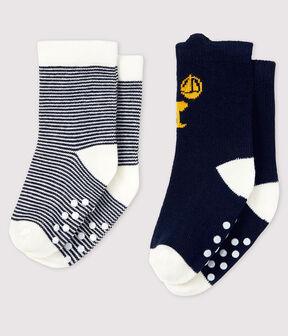 Pack of 2 pairs of baby socks . set