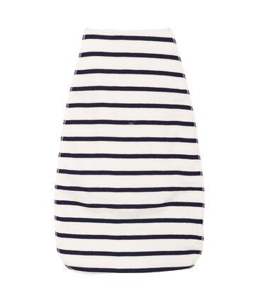 Unisex Babies' Back Towel Marshmallow white / Smoking Cn blue