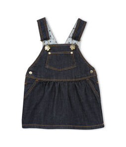 Baby Girls' Denim Dungarees/Dress Jean blue