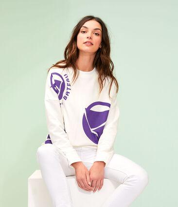 Women's Logo Sweatshirt Marshmallow white / Real purple