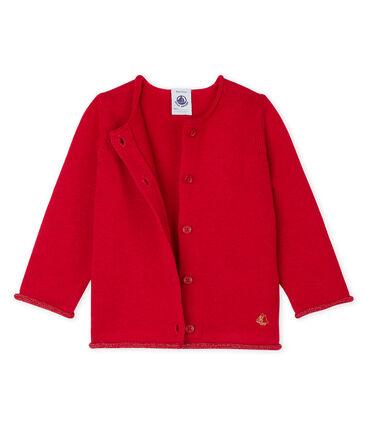 Baby Girls' Wool/Cotton Knit Basic Cardigan