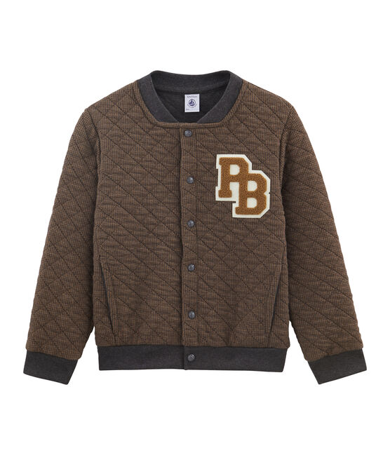 Boys' Baseball Coat Cocoa brown / City:city grey