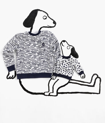 Sweatshirt in Collaboration with Jean Jullien MARSHMALLOW/DASH