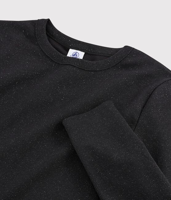Women's iconic round neck T-shirt NOIR/ARGENT