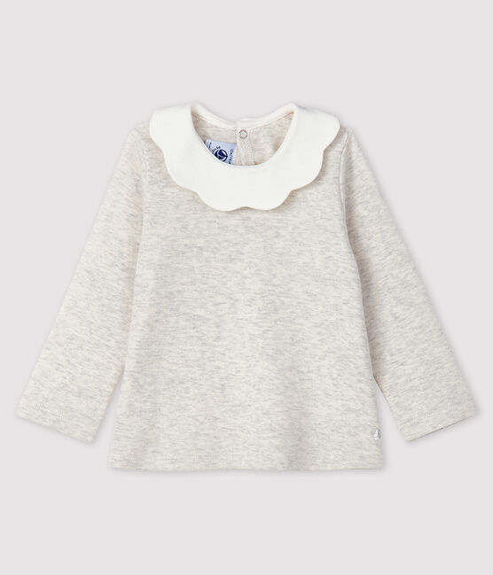 Baby girl's long-sleeved blouse Montelimar Chine grey