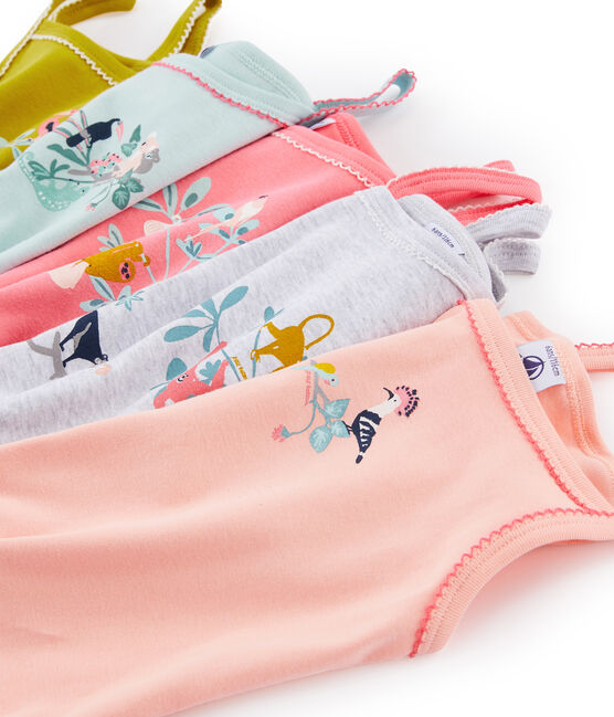 Girls' strap vest - Set of 5 . set