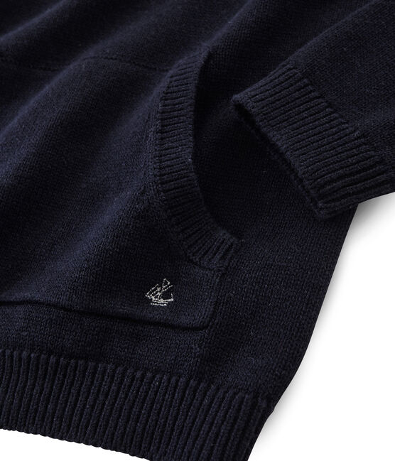 Boys' Wool and Cotton Knit Pullover Smoking blue