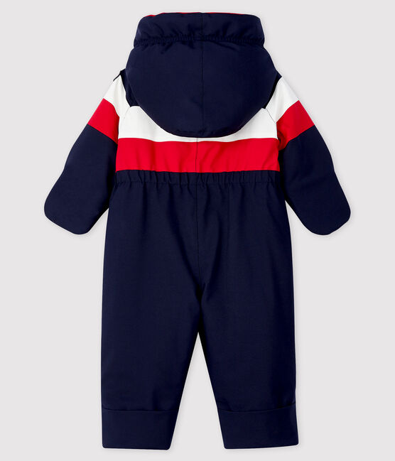 Baby's unisex 3-in-1 snowsuit Smoking blue / Multico white