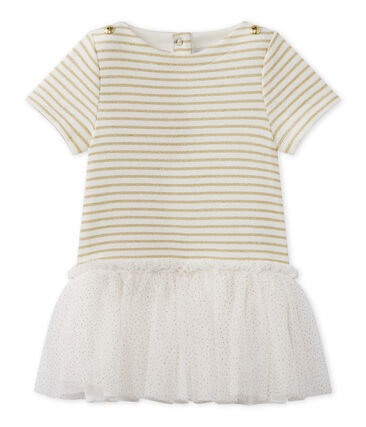 Baby girl's dress with short sleeves