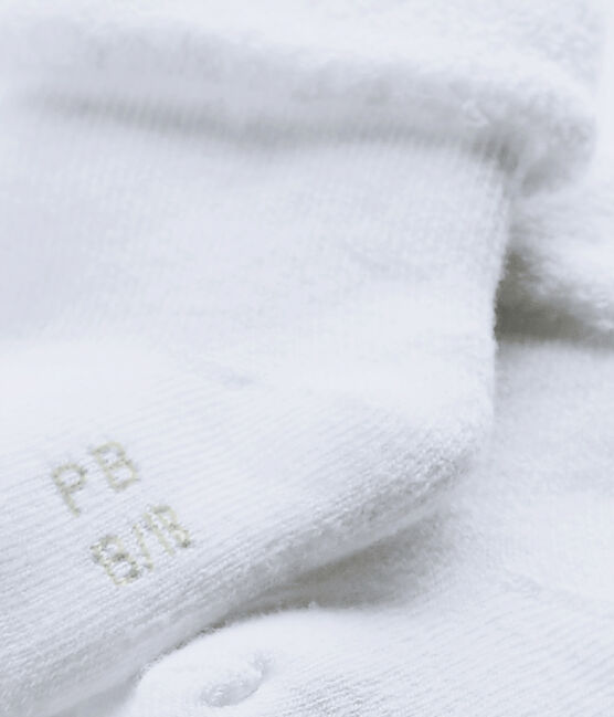 Babies' Terry Socks Ecume white