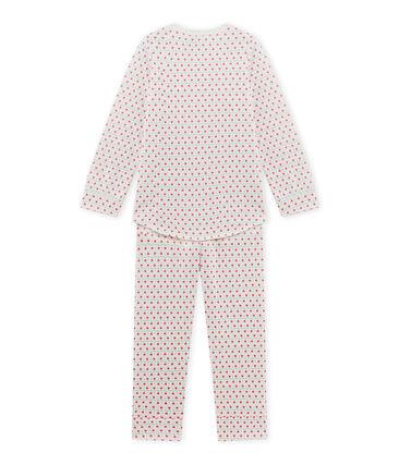 Girl's printed pyjamas Lait white / Multico white