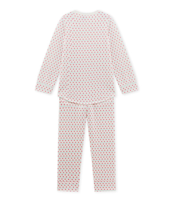 Girl's printed pyjamas Lait white / Multico white