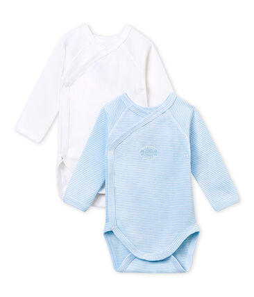 PACK OF 2 BABY BOY LONG-SLEEVED BODYSUITS