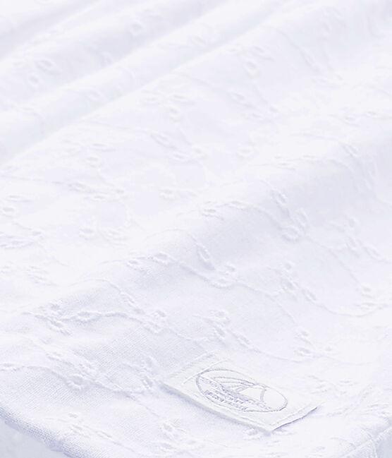 Baby girls' eyelet lace dress Ecume white