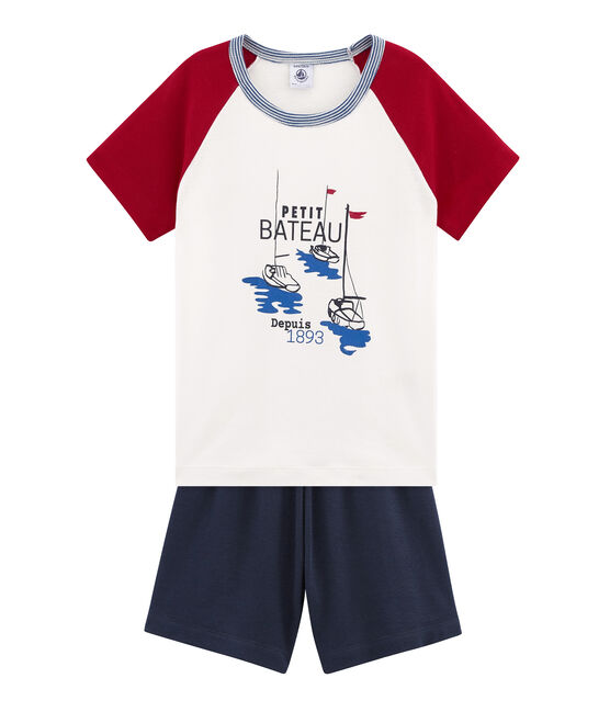 Boys' short Pyjamas Smoking blue / Multico white