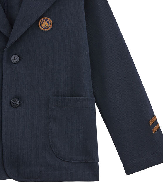 Boy's jacket in a structured knit Smoking blue
