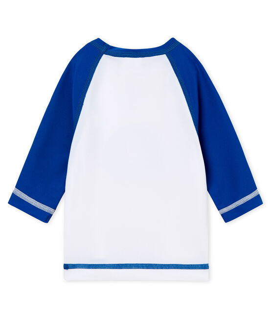 Unisex UV-Proof UPF 50+ T-shirt Marshmallow white / Riyadh blue