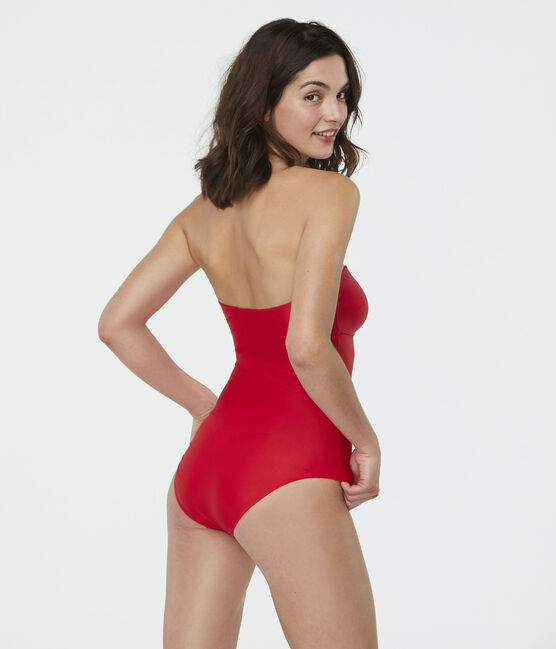Eco-friendly 1-piece swimsuit Peps red