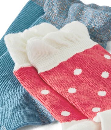 Pack of 2 Pairs of Girls' Socks
