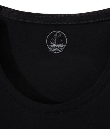 Women's Short-Sleeved V-Neck T-Shirt Noir black