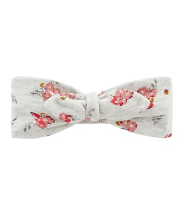 Baby Girls' Headband Beluga grey / Multico white