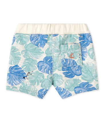 Baby boy's print shorts Beluga grey / Multico white