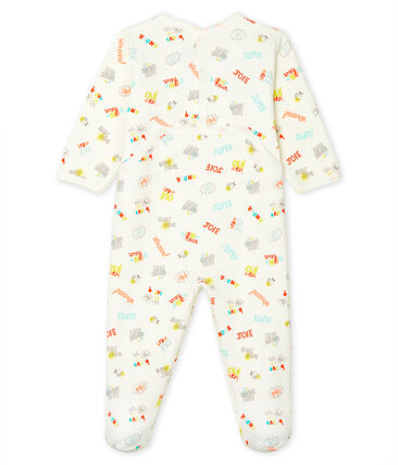 Babies' Fleece Sleepsuit Marshmallow white / Multico white