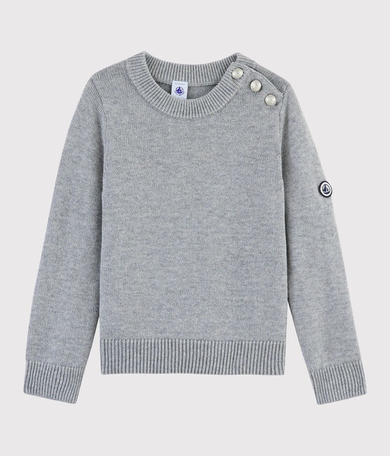 Children's Wool and Cotton Pullover Subway grey